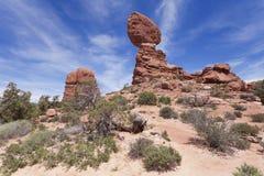 Roccia dell'equilibrio nel parco nazionale di arché Fotografia Stock