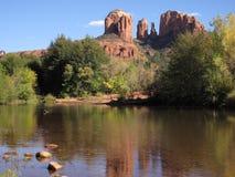 Roccia della cattedrale vicino a Sedona, Arizona Fotografie Stock
