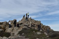 Roccia della Cina, un azionamento da 17 miglia, California, U.S.A. Fotografia Stock Libera da Diritti
