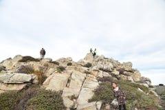 Roccia della Cina, un azionamento da 17 miglia, California, U.S.A. Immagini Stock