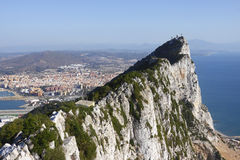 Roccia della Gibilterra Immagini Stock Libere da Diritti