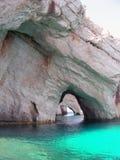 Roccia della Grecia in mare ionico Fotografie Stock Libere da Diritti