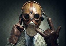 Roccia della maschera antigas Fotografia Stock Libera da Diritti