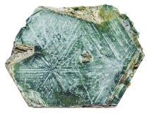 Roccia della mica del magnesio della flogopite isolata Fotografia Stock