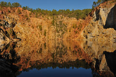 Roccia della miniera del ferro Fotografia Stock