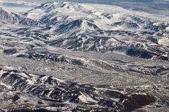 Roccia della montagna dell'Islanda di vista aerea Fotografia Stock