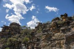 Roccia della pagoda nel parco nazionale blu delle montagne Fotografia Stock