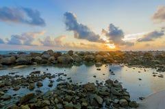 Roccia della spiaggia Immagini Stock Libere da Diritti