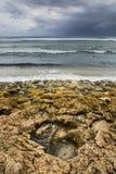 Roccia della tempesta di inverno del mare dell'oceano dell'Australia Immagini Stock