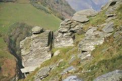 Roccia devoniana del calcare fotografia stock