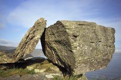 Roccia devoniana equilibrata del calcare immagini stock