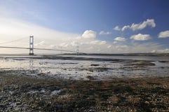 Roccia di Aust & Severn Bridge fotografia stock libera da diritti