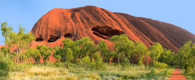 Roccia di Ayer o Uluru outback Australia Fotografia Stock Libera da Diritti