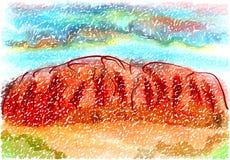 Roccia di Ayers Fotografie Stock Libere da Diritti
