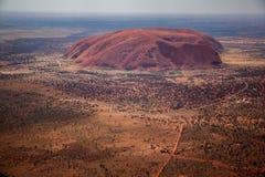Roccia di Ayers dall'aria Fotografia Stock