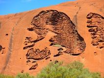 Roccia di Ayers, territorio settentrionale, Australia Fotografia Stock