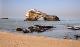 Roccia di Biarritz Fotografie Stock