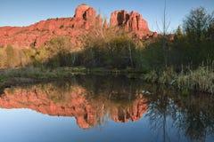 Roccia di Catherdal in Sedona Arizona Fotografia Stock
