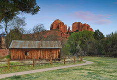 Roccia di Catherdal in Sedona Arizona Fotografie Stock