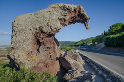 Roccia di Elefante, Sardegna Fotografie Stock Libere da Diritti