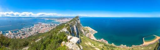 Roccia di Gibilterra di panorama Immagine Stock Libera da Diritti