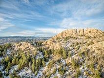 Roccia di Horsetooth nell'inverno Immagine Stock