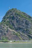 Roccia di Loreley, il Reno, Germania Fotografie Stock Libere da Diritti