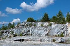 Roccia di marmo Fotografie Stock Libere da Diritti