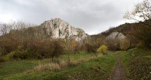 Roccia di Martinka in colline di Palava in Moravia del sud Fotografia Stock