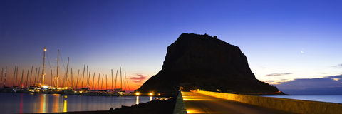 Roccia di Monemvasia fotografie stock libere da diritti