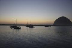 Roccia di Morro al tramonto Fotografia Stock Libera da Diritti