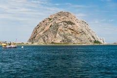 Roccia di Morro alla baia di Morro, California Fotografia Stock