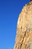 Roccia di pietra dei abbys della scogliera ripida della cava Immagine Stock
