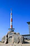 Roccia di punta alla montagna Brocken Immagini Stock Libere da Diritti