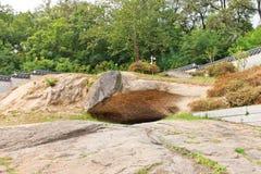 Roccia di Seoam del palazzo di Gyeonghuigung a Seoul, Corea Fotografia Stock Libera da Diritti