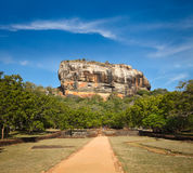 Roccia di Sigiriya Fotografie Stock