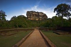 Roccia di Sigiriya in Sri Lanka Fotografie Stock