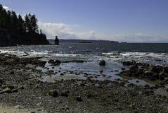 Roccia di Siwash, baia inglese, Vancouver BC immagine stock