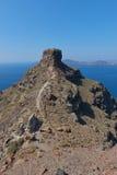 Roccia di Skaros a Imerovigli, Santorini Fotografia Stock Libera da Diritti
