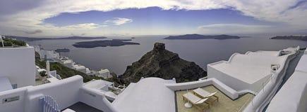 Roccia di Skaros sull'isola di Santorini, Grecia Immagine Stock