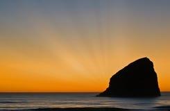 Roccia di tramonto Fotografia Stock