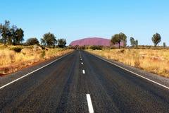 Roccia di Uluru Ayers, Territorio del Nord, Australia fotografie stock