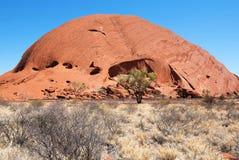Roccia di Uluru Ayers, Territorio del Nord, Australia fotografie stock libere da diritti