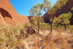 Roccia di Uluru Ayers, Territorio del Nord, Australia fotografia stock libera da diritti
