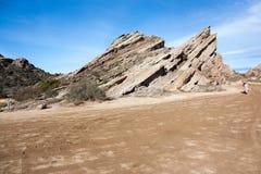 Roccia di Vasquez in California Fotografia Stock
