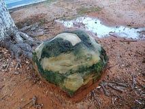 Roccia di verde della natura Fotografia Stock Libera da Diritti