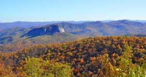 Roccia di vetro di sguardo in autunno Immagine Stock Libera da Diritti