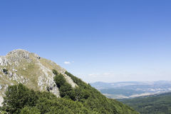 Roccia di Viggiano del paesaggio Fotografie Stock