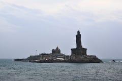 Roccia di Vivekananda del monumento sull'isola Immagine Stock