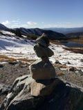Roccia di zen nelle montagne fotografia stock